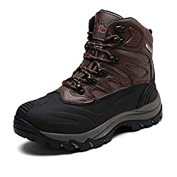 nortiv 8 mens insulated waterproof winter snow boots