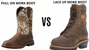 Slip on Vs Lace-Up Work Boots