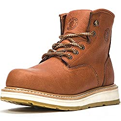 ROCKROOSTER Mens Work Boots, 6 Inch Soft Toe Wedge Sole Boots, AP615